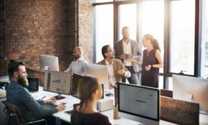Büro Vertrieb und Marketing