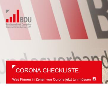 Corona Checkliste für strategische Entscheidungen