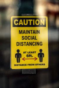 Bild: Caution, Social distancing